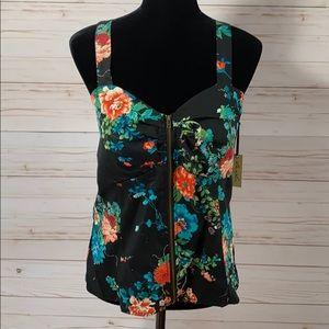 Liberty Love Floral Zipper Top